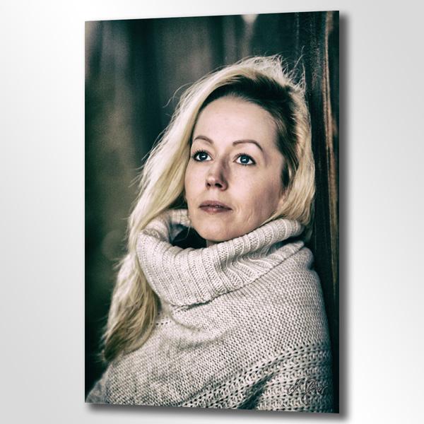 Eine Dame mit Rollkragen - fotografiert von Michael Glaser, Inhaber bei Schokografie in Krefeld